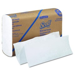 SCOTT Multifold Paper Towels, 9 1/5 x 9 2/5, White, 250/Pack