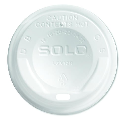 SOLO White Plastic Dome Trophy Lid- White