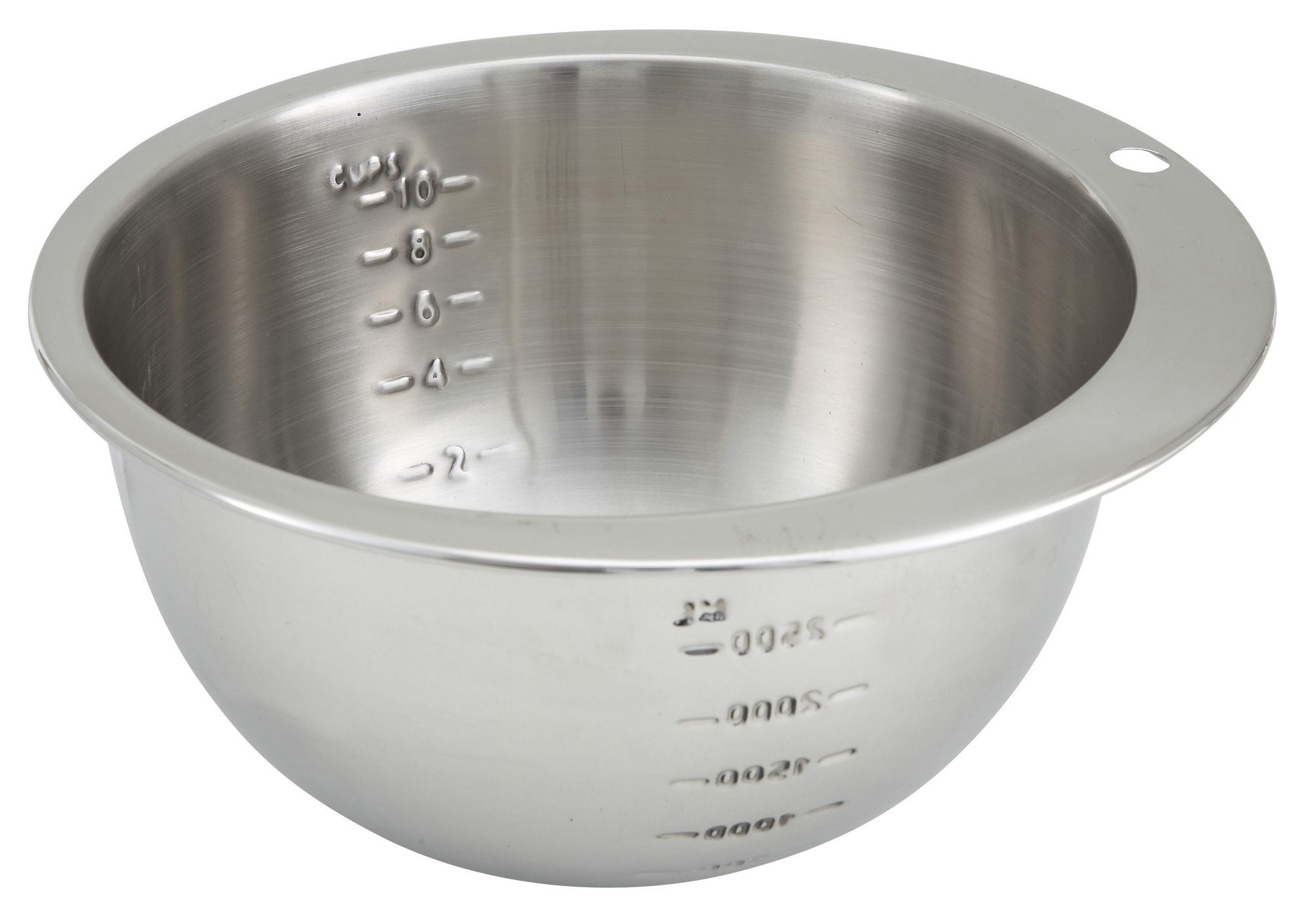 Winco SMB-10 Stainless Steel Measuring Bowl, 10 Cup