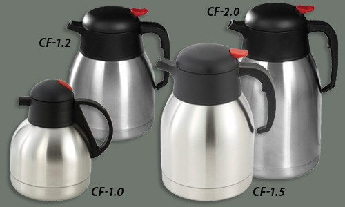 Winco CF-2.0 Stainless Steel Lined Carafe 2.0 Liter