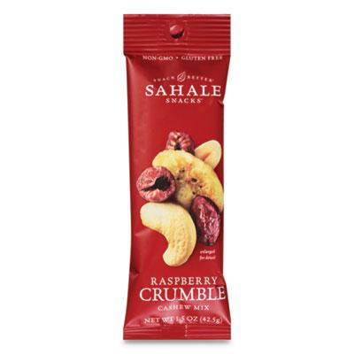 Sahale Snacks Glazed Mix, Raspberry Crumble Cashew Trail Mix, 1.5 oz Pouch, 18/Carton