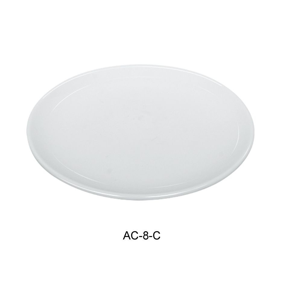 "Yanco AC-8-C Abco Coupe Rimless 8"" Salad Plate"