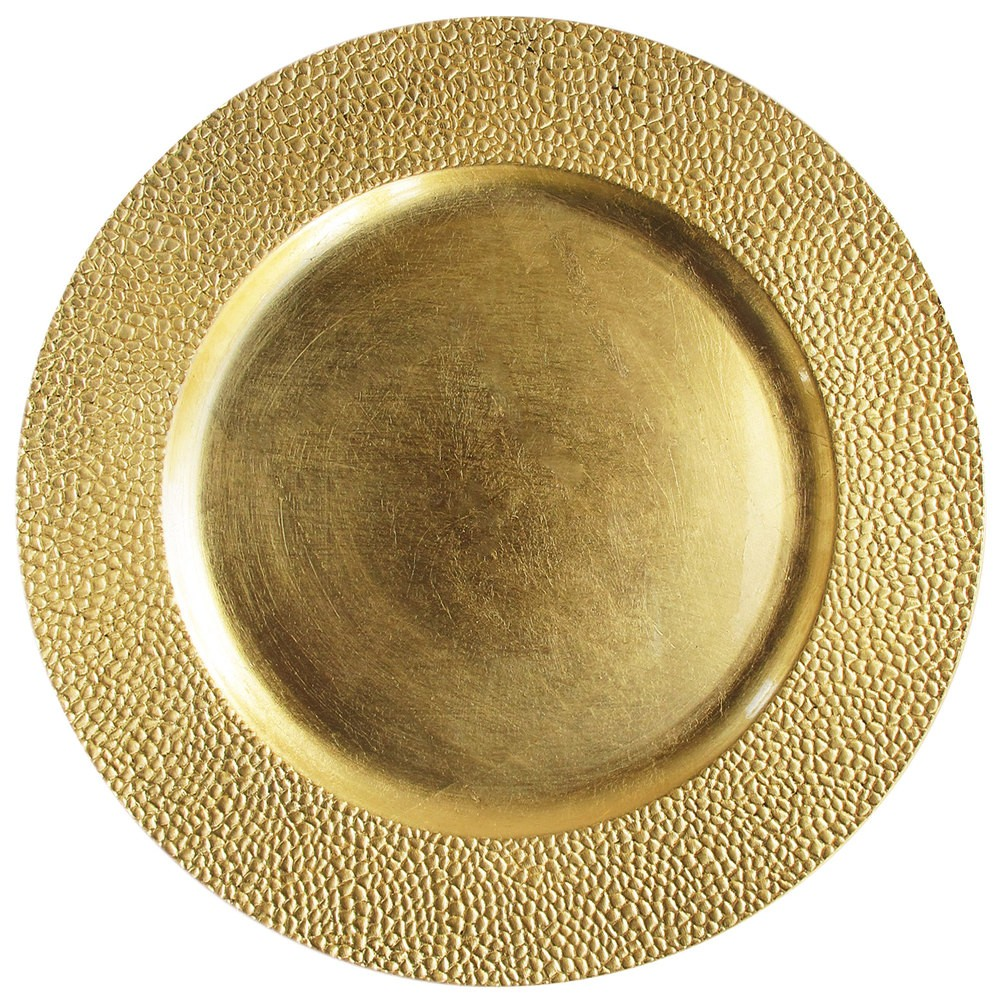 Sand Charger Plate Gold 13