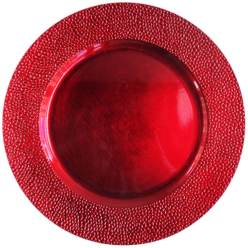 "Jay Companies 1182762 Sand Red Melamine 13"" Charger Plate"