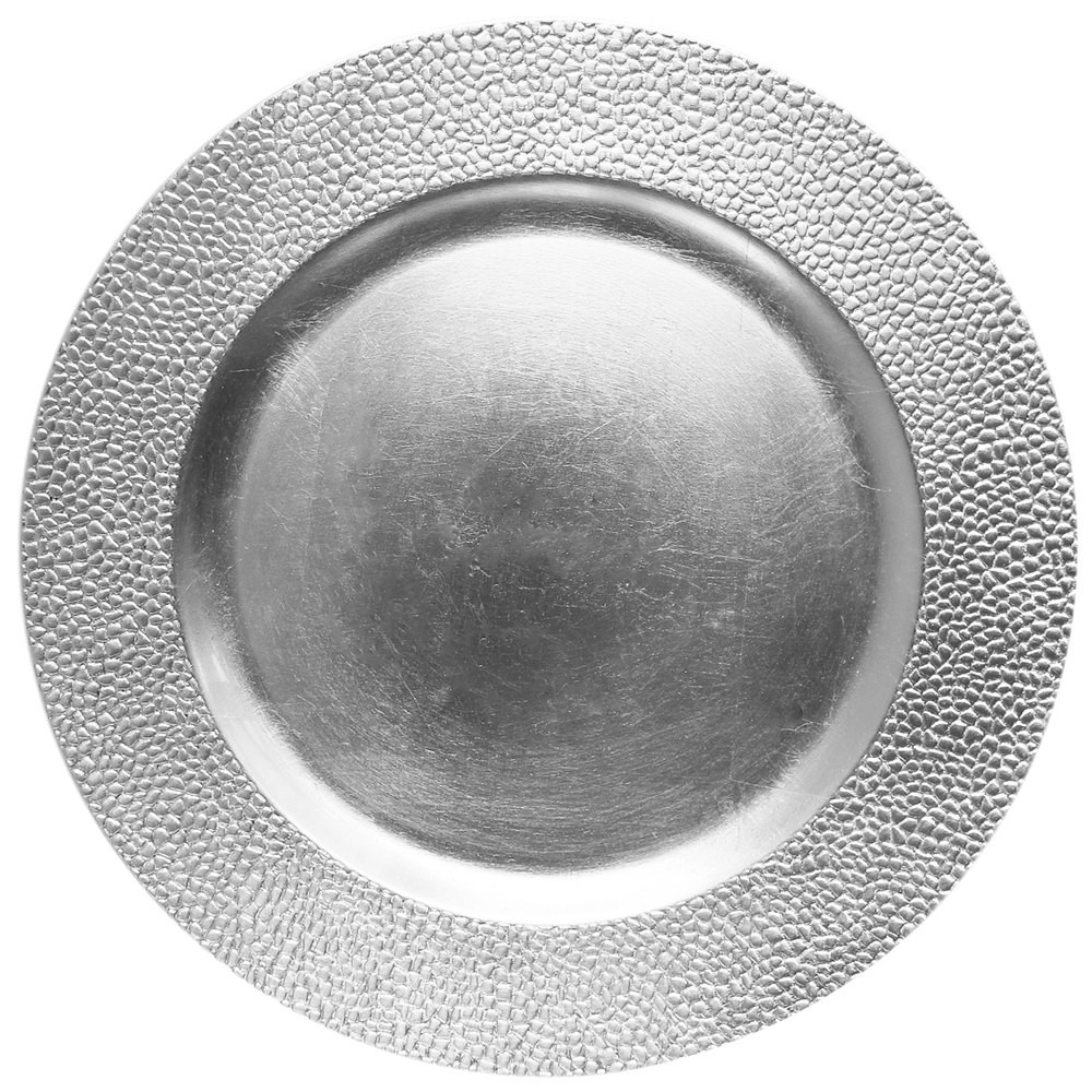 """Jay Companies 1182761 Sand Silver Melamine 13"""" Charger Plate"""
