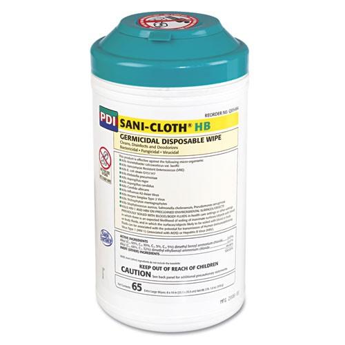 Sani-Cloth HB Wipes, 8 x 14, White
