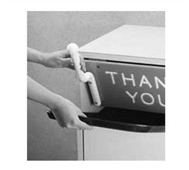 Franklin Machine Products  280-1240 Sani-Grab Sanitary Trash Lid Handle