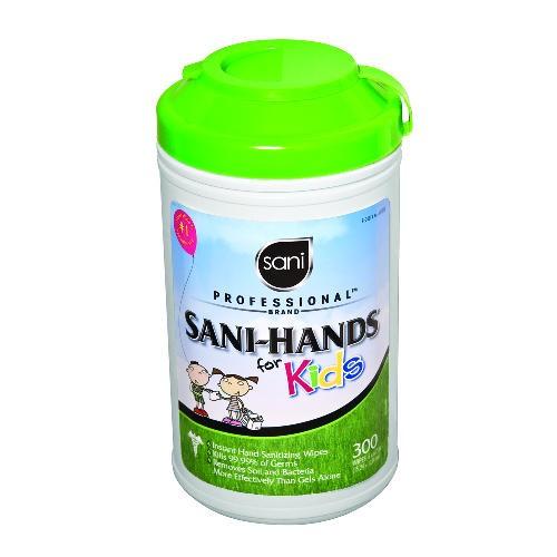 Sani-Hands for Kids, 5 x 7 1/2, White