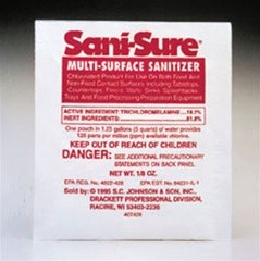 Sani-Sure Multi-Surface Sanitizer 100 Pouches