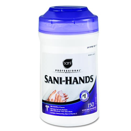 Sani-Wipe Surface Wipes, 7.75