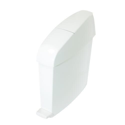 White Plastic Sanitary Bin, Rectangular, 3 Gallon
