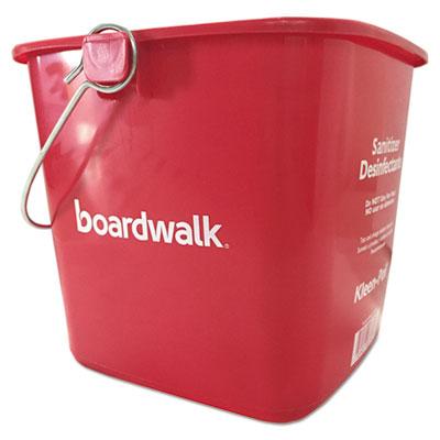 Boardwalk Kleen-Pail Red Plastic Sanitizing Bucket 6 Qt.