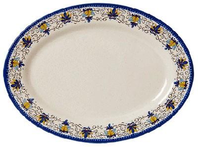 """G.E.T. Enterprises OP-621-SL Santa Lucia Melamine Oval Platter, 21"""" x 15"""""""
