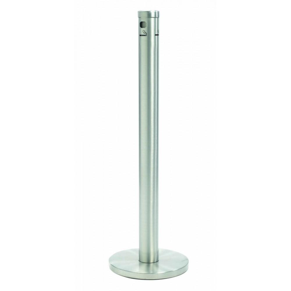 Satin floor standing cigarette receptacles lionsdeal for Floor receptacle