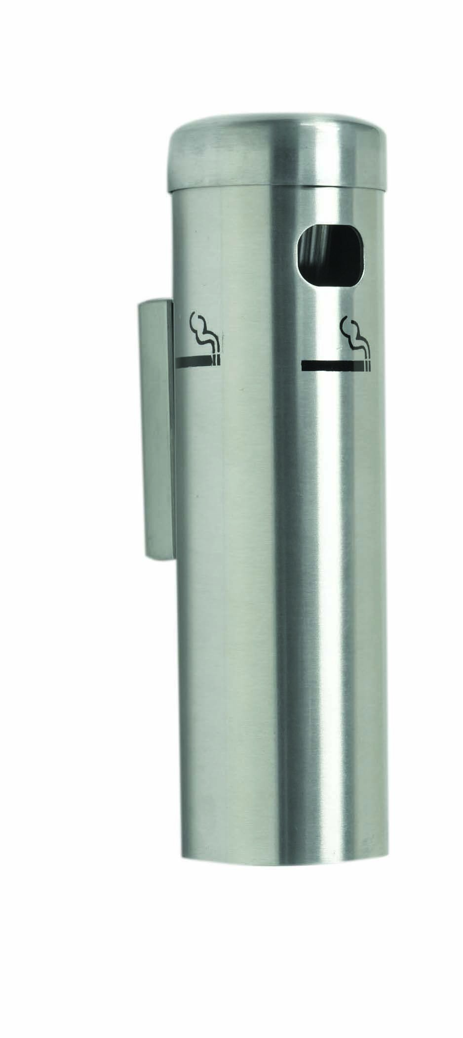 Aarco Products SS15W Satin Wall Mounted Cigarette Receptacle