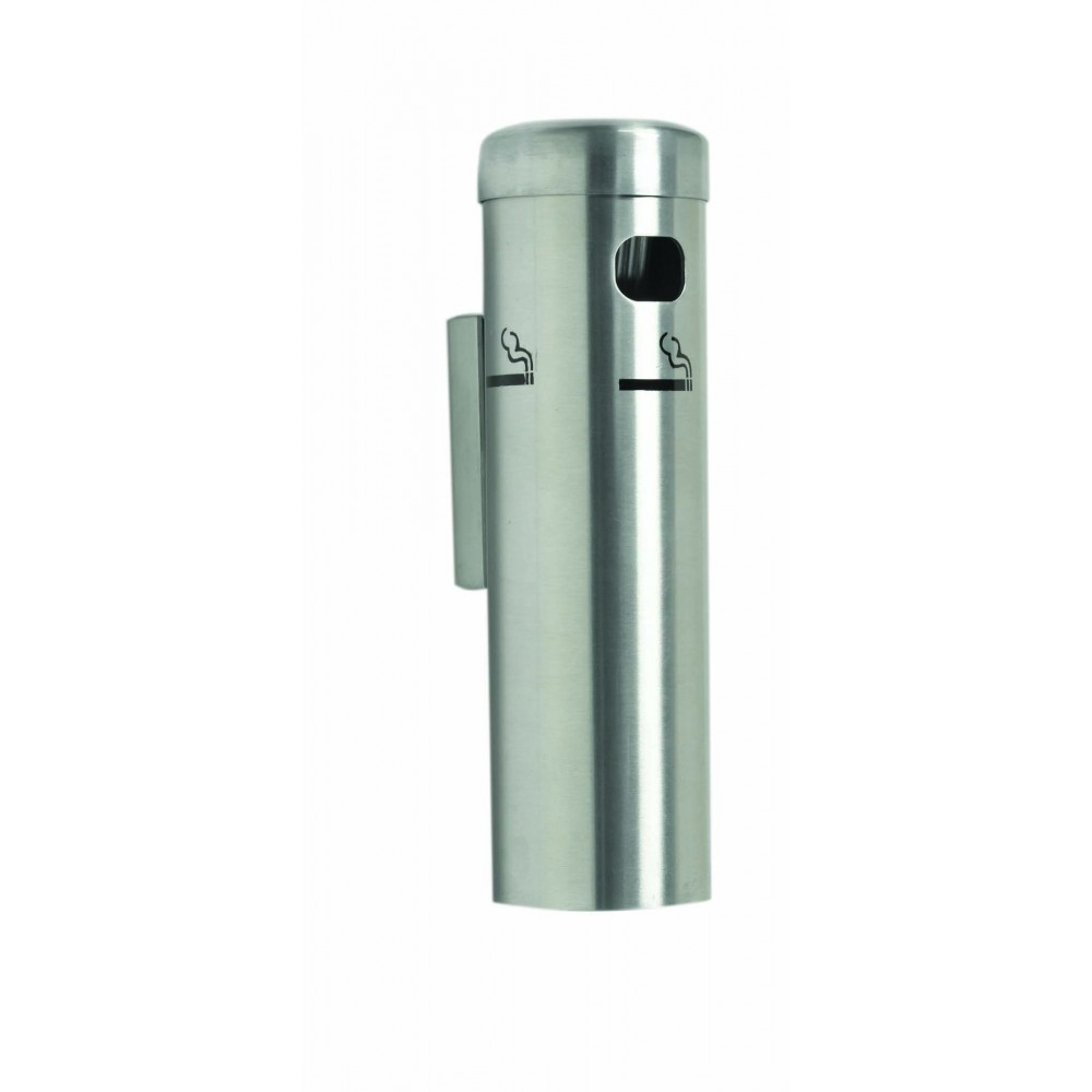 Satin Wall Mounted Cigarette Receptacles