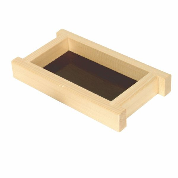 "Thunder Group Y-95 Small Shiraki Wood Soy Sauce and Condiment Holder 8"" x 4-1/2"""