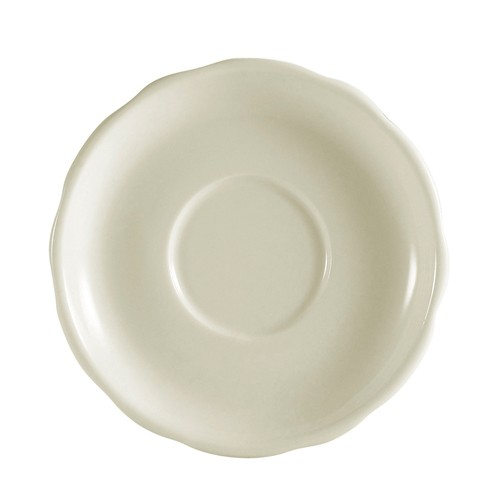 Saucer - American Ivory, Scalloped-Edge China (5.75