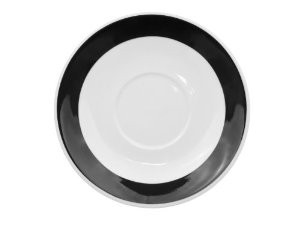 CAC China R-2-BLACK Rainbow Black Saucer, 6""