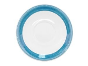 CAC China R-2-BLU Rainbow Blue Saucer, 6""