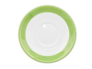 CAC China R-2 -G Rainbow Green Saucer, 6""