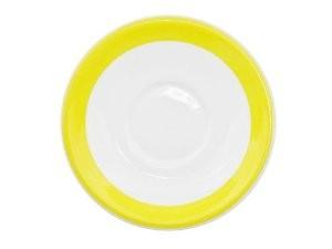 "CAC China R-2-Y Rainbow Yellow Saucer, 6"""