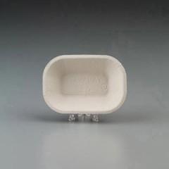 Savaday Molded Fiber Food Tray, Beige, 6x4, 250 per Bag