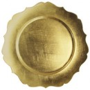 """Jay Import 1182766 Scallop Gold Melamine 13"""" Charger Plate"""