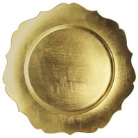 "Jay Import 1182766 Scallop Gold Melamine 13"" Charger Plate"
