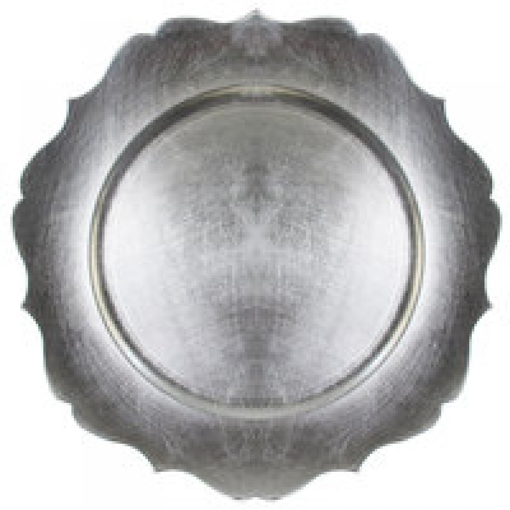 "Jay Import 1182767 Scallop Silver Melamine 13"" Charger Plate"