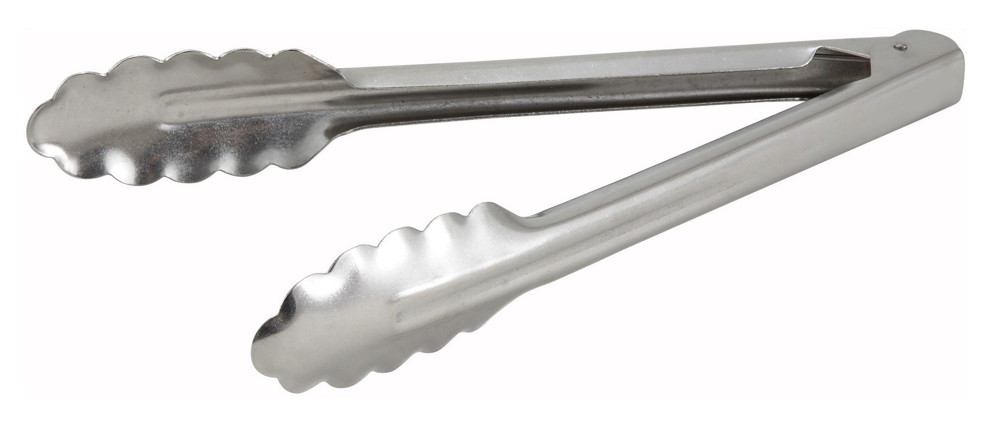 Winco UT-9 Scalloped-Edge Medium Weight Stainless Steel Utility Tong 9""