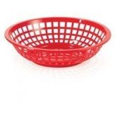 "G.E.T. Enterprises RB-820-SC Scarlet Plastic Round Basket 8"""