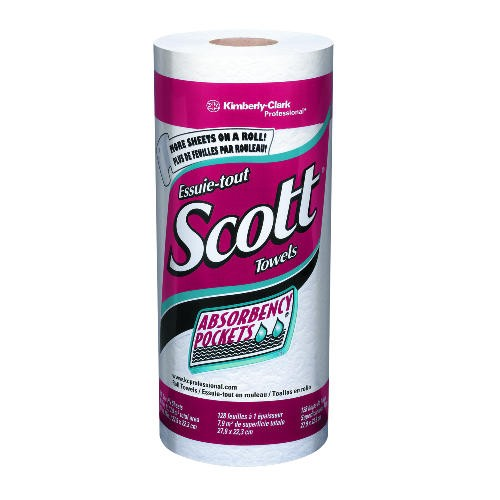 Scott Kitchen Roll Paper Towel 11 X 8.78 1-Ply, White