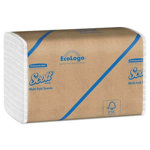 Scott Multi-Fold 100% Recycled Paper Towels, White, 4000/Carton