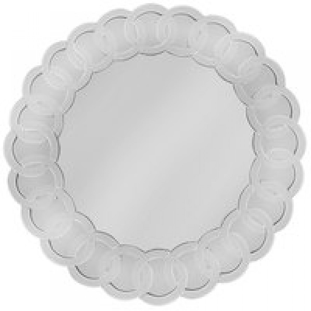 Scroll Mirror Charger Plate 14
