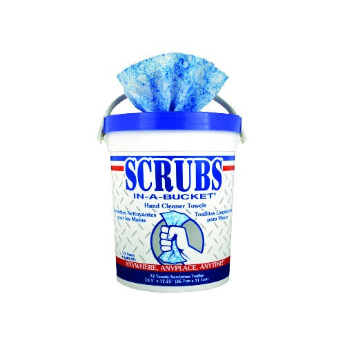 Scrubs Disposable Hand Cleaner Towel, Cirtus Scent, 72-Count Bucket