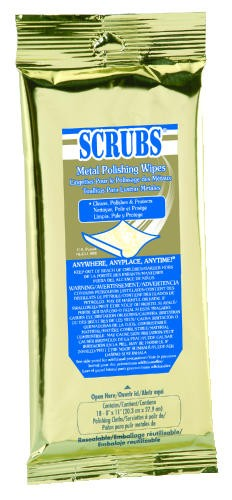 Scrubs Disposable Metal Polish Wipes