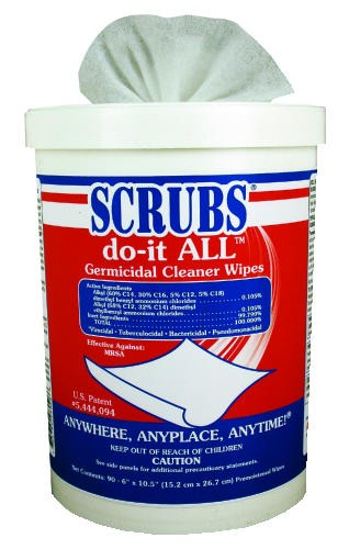 Scrubs Do It All Germicidal Cleaner Wipes, 90 Counts