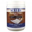 Scrubs Furniture Polish Wipes, 65 Count/Container