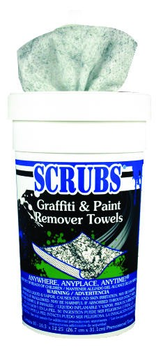 Scrubs Graffiti & Spray Paint Remover Towels