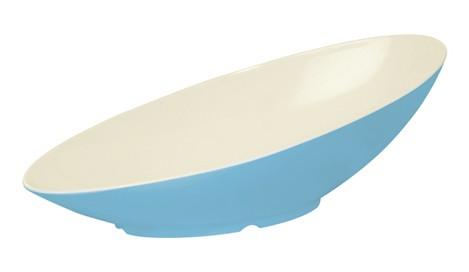 G.E.T. Enterprises B-798-SE Seabreeze 2.5 Qt. Melamine Oval Cascading Bowl