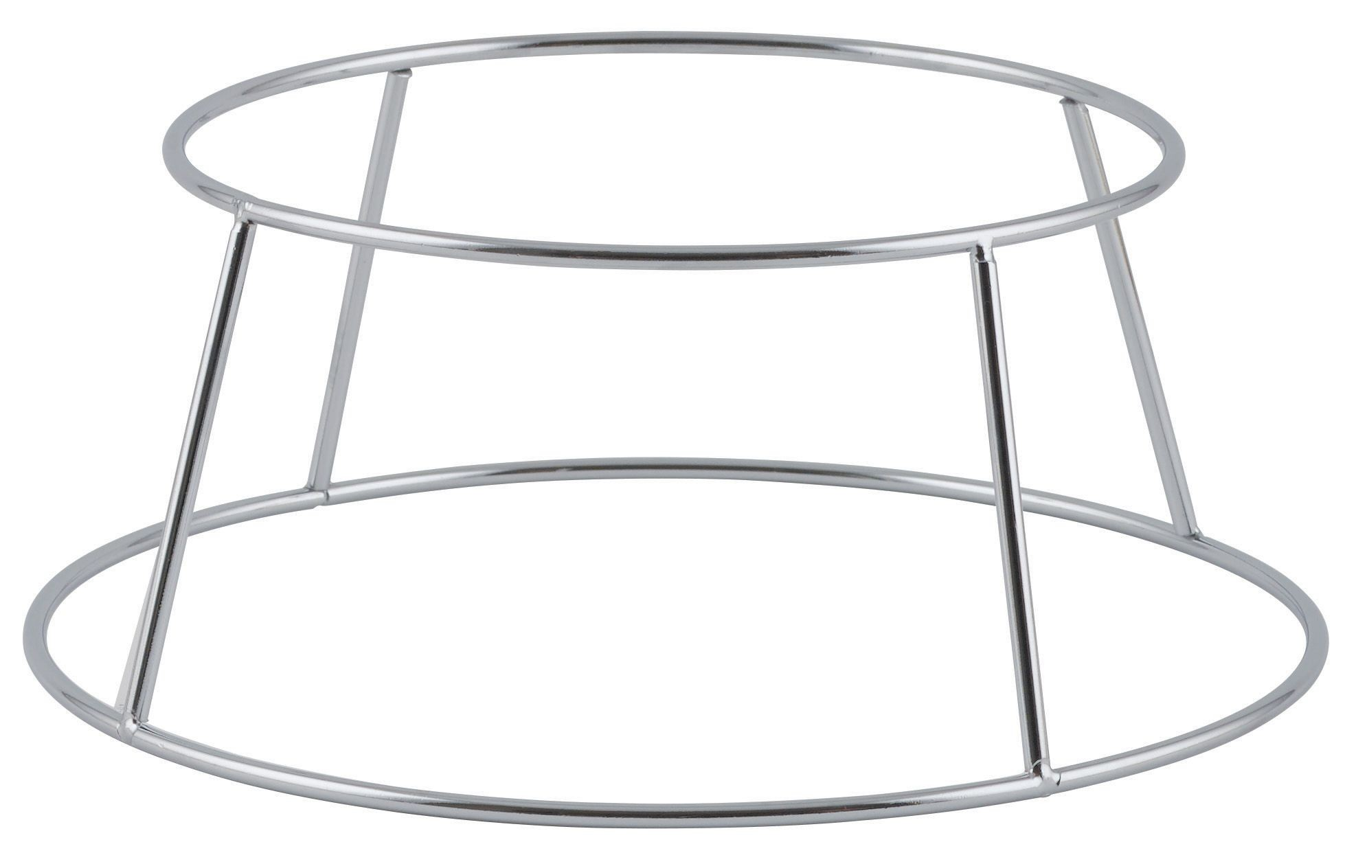 "Winco SFR-4 Aluminum Display Seafood Tray Rack Holder 4-3/8"" H"
