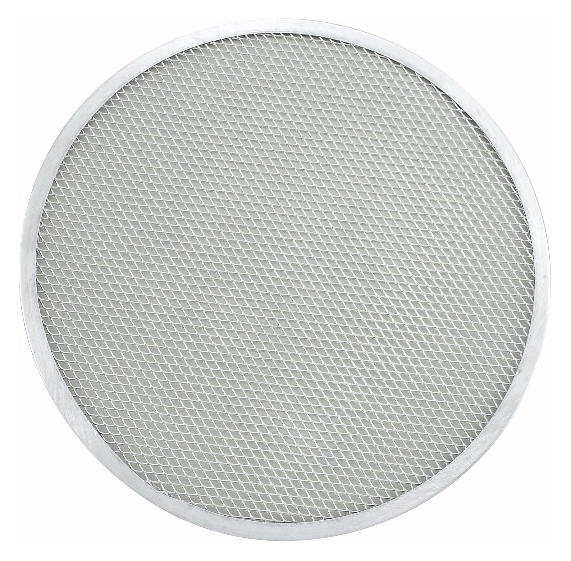 "Winco APZS-15 Seamless Aluminum Pizza Screen 15"" Dia."