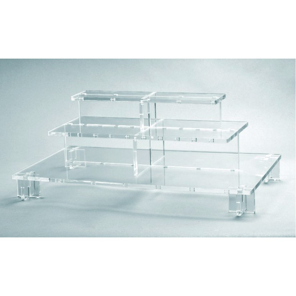 Rosseto PSC579 Clear Acrylic Pagoda Small Three-Tier Centerpiece Buffet Display