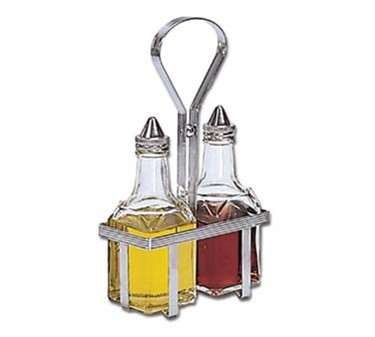 TableCraft 600N Set Of Oil & Vinegar Dispenser with Chrome Rack