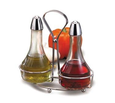 TableCraft 608N Oil & Vinegar Dispenser Set with Rack, 8 oz.