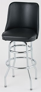 Royal Industries roy 7722 b Bucket Seat Double Ring Bar Stool, Set of 2