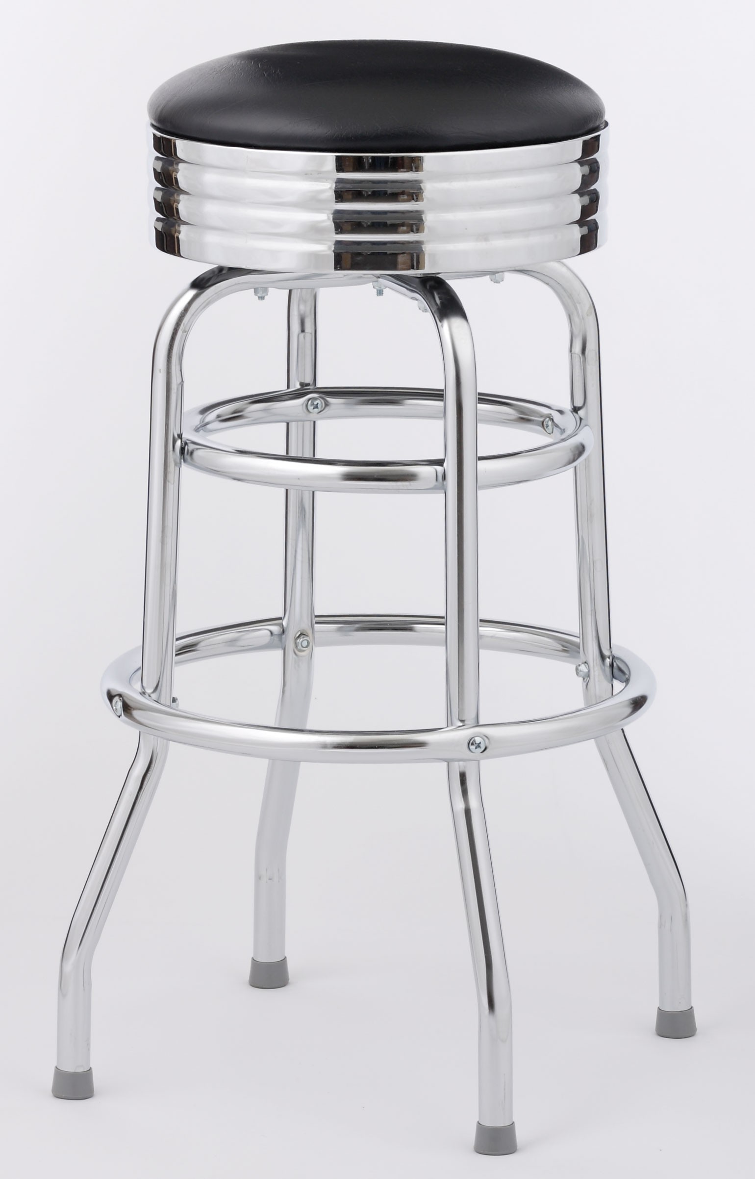 Set of Four Classic Diner Bar Stool (Knocked Down)