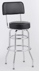 Royal Industries ROY 7716 Open Back Double Ring Bar Stool, Set of 4