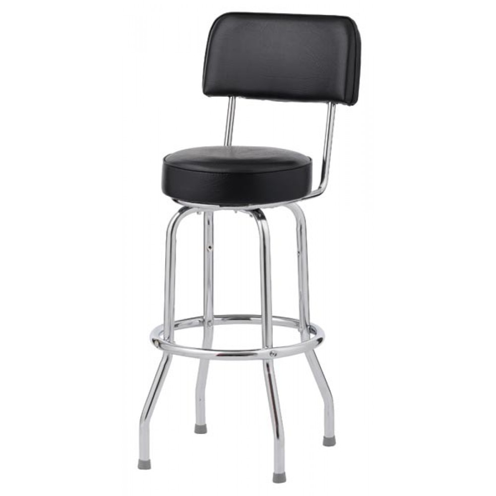 Royal Industries ROY 7715 Open Back Single Ring Bar Stool, Set of 4